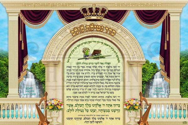 Picture of Sukkah Poster - על נטילת לולב