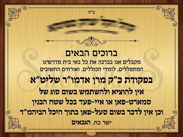 Picture of No Smartphone in Shul - Custom