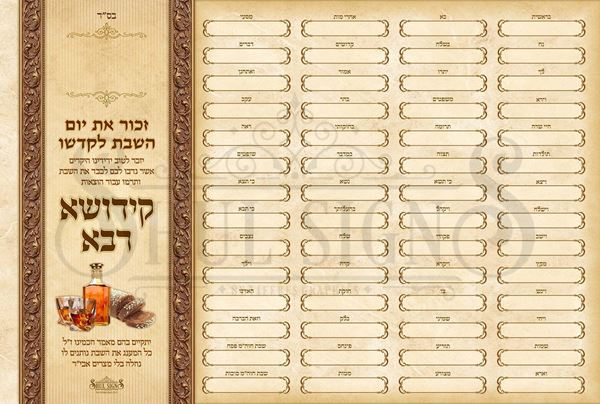 Picture of Kiddush Weekly Sponsors
