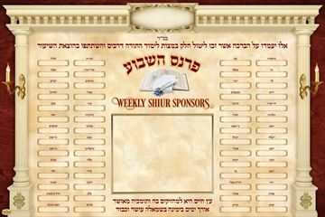 Picture of Parnes  Weekly Shiur Sponsors
