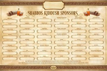 Picture of Kiddush Weekly Sponsors-5777