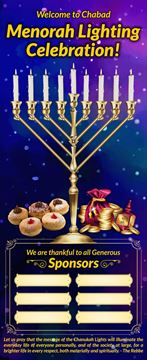 Picture of Chanukah Roll Up Banner  + Stand