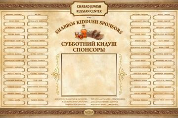 Picture of Kiddush Weekly Sponsors - Russian