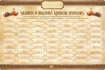 Picture of Kiddush  Shabbos & Yomim Tovim - 5777