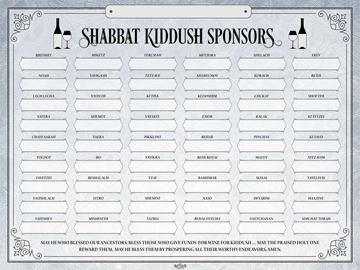 Picture of Shabbat Kiddush Weekly Sponsors