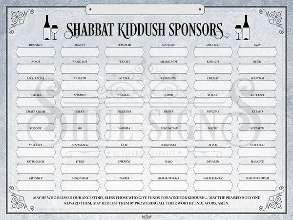 Picture of Shabbat Kiddush Weekly Sponsors