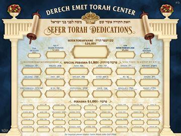 Picture of Custom SEFER TORAH DEDICATION BOARD