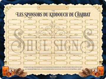 Picture of Shabbat Kiddush Sponsors - French