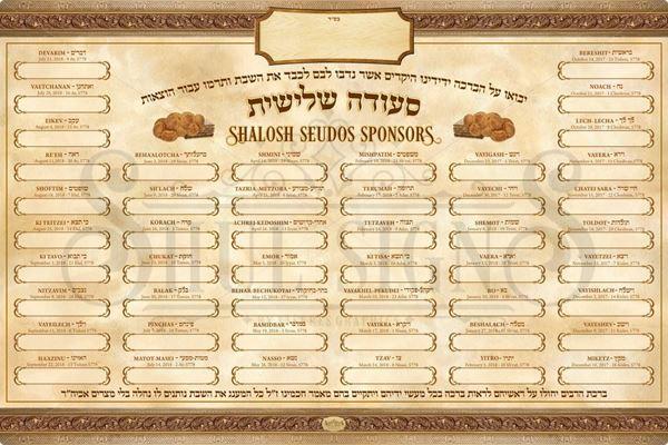 Picture of Shalosh Seudos 5778