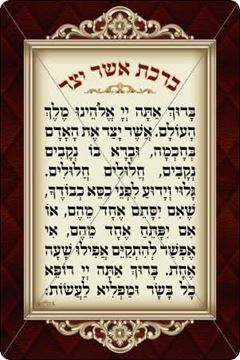 Picture of Asher Yatzar Sign - Chabad