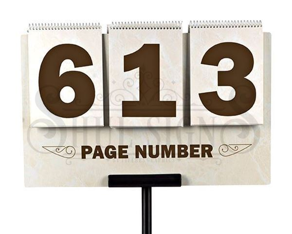 Picture of Page number sign