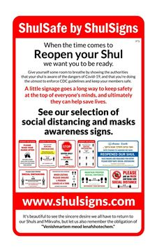 Picture of Covid Safety Signs - Shul Package