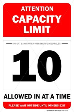 Picture of Capacity Sign