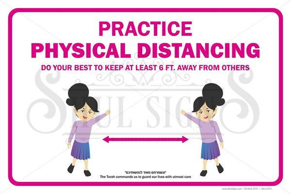 Picture of Social Distancing Safety Sign - Kids