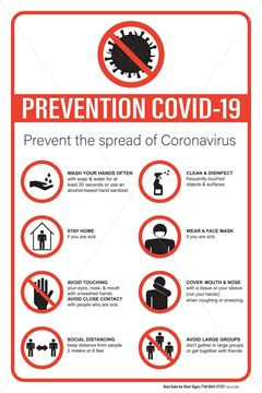 Picture of Prevention Covid-19 Sign