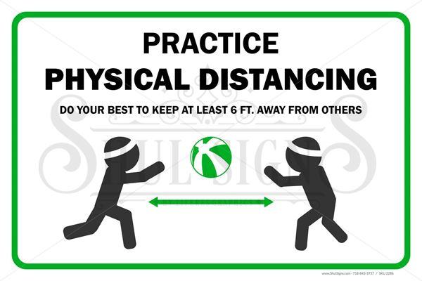 Picture of Social Distancing Safety Sign - Kids Playing