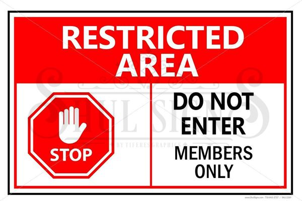 Picture of Sign - Members Only - No Trespassing