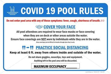 Picture of Covid 19 - Pool Safety Sign