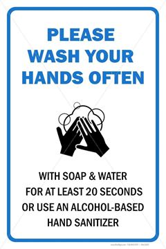 Picture of Washing Hands Sign