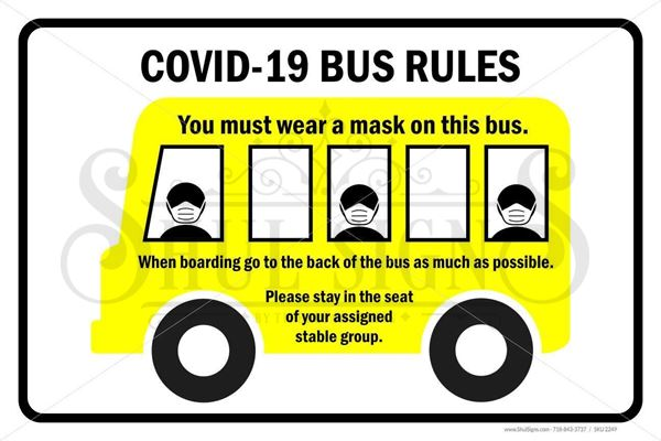 Picture of Day Camp Sign - Bus Rules