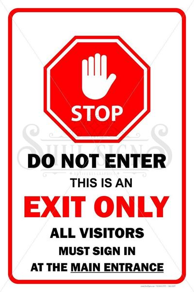 Picture of Exit Only Sign - (Do Not Enter)