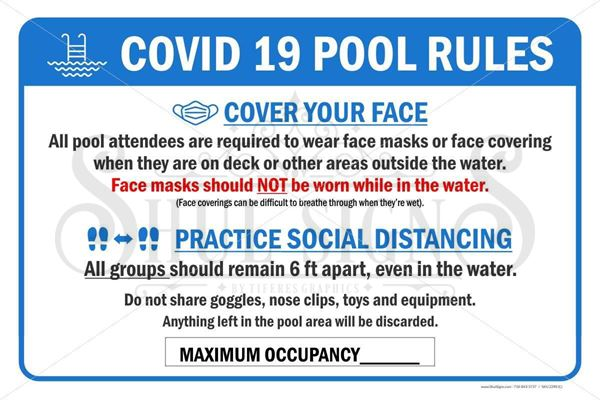 Picture of Day Camp - Covid 19 - Pool Safety Sign