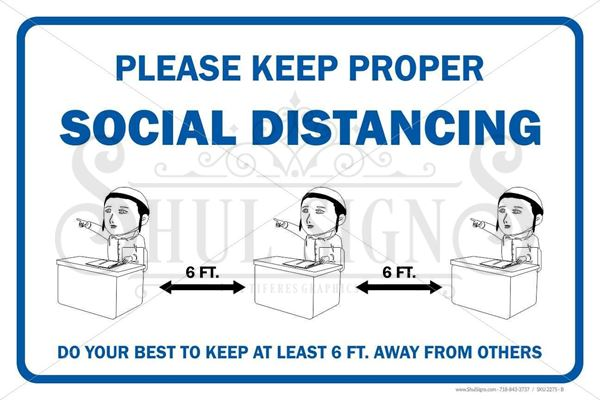 Picture of Social Distancing Safety Sign - Kids Classroom
