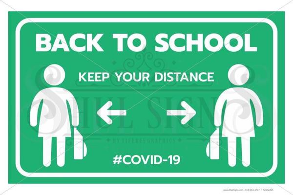 Picture of Back to School - Social Distancing - Girls