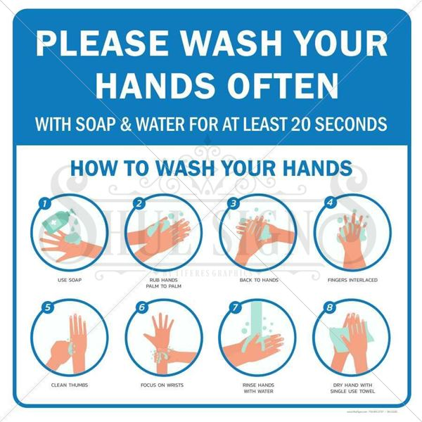 Picture of Hand Washing Sign