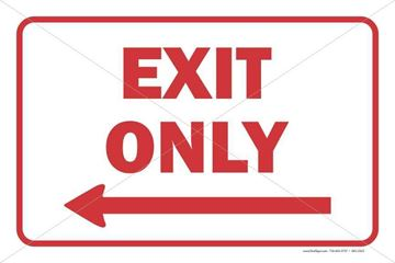 Picture of Exit Only - Left