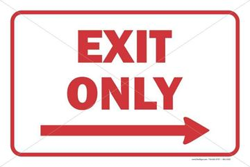 Picture of Exit Only - Right