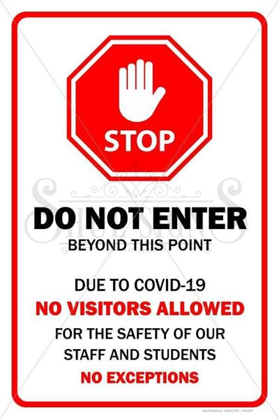 Picture of Sign - Do Not Enter - Covid 19