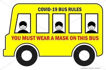 Picture of Bus Sign - Wear Mask
