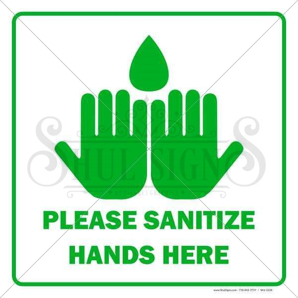 Picture of Sanitize Hands Here Sign