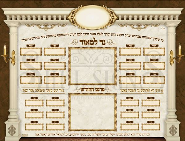 Picture of Ner Lamoer& Parnes Hachodesh + 2 Insert's