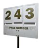 Picture of Aluminum Page number Sign [3]
