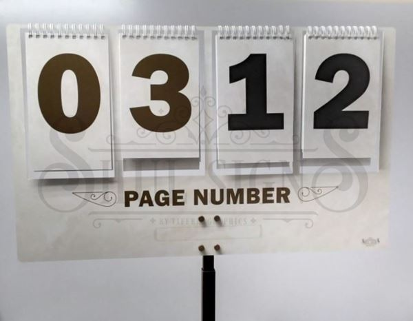 Picture of Aluminum Page number Sign [4]